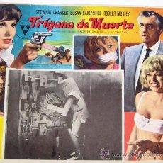 Cine: TRIGONO DE MUERTE - STEWART GRANGER - SUSAN HAMPSHIRE - LOBBY CARD ORIGINAL MEXICANO. Lote 19688116