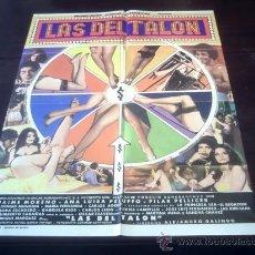 Cine: POSTER ORIGINAL MEXICANO LAS DEL TALÓN JAIME MORENO ANA LUISA PELUFO PELLICER ALEJANDRO GALINDO 1978. Lote 19699103