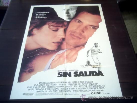 POSTER ORIGINAL NO WAY OUT SIN SALIDA NO HAY SALIDA KEVIN COSTNER GENE HACKMAN ROGER DONALDSON 1987 (Cine - Posters y Carteles - Suspense)