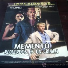 Cine: POSTER ORIGINAL LATINO MEMENTO AMNESIA RECUERDOS DE UN CRIMEN GUY PIERCE CARRIE-ANNE MOSS 2000 NOLAN. Lote 19700151