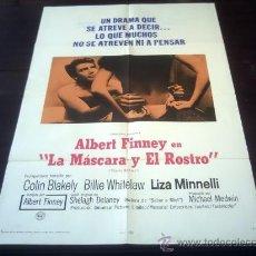 Cine: POSTER ORIGINAL CHARLIE BUBBLES LA MÁSCARA Y EL ROSTRO ALBERT FINNEY LIZA MINNELLI COLIN BLAKELY1967. Lote 19718092