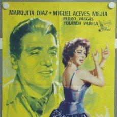 Cine: MM54 TRES ANGELITOS NEGROS MARUJITA DIAZ MIGUEL ACEVES MEJIA POSTER ORIGINAL ESTRENO 70X100. Lote 19728911