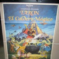 Cine: TARON Y EL CALDERO MAGICO DISNEY POSTER ORIGINAL 70X100 WW. Lote 20901787