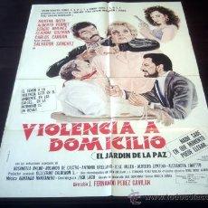 Cine: POSTER ORIGINAL EL JARDÍN DE LA PAZ VIOLENCIA A DOMICILIO MARTHA ROTH ALBERTO PEDRET F PÉREZ GAVILÁN. Lote 19756210