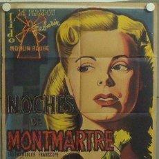 Cine: MM61 NOCHES DE MONTMARTRE JEAN-MARC THIBAULT POSTER ORIGINAL 70X100 ESTRENO. Lote 19784692