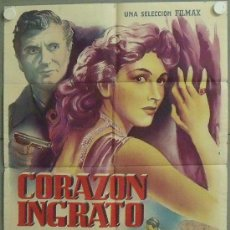Cine: MM69 CORAZON INGRATO CARLA DEL POGGIO FRANK LATIMORE POSTER ORIGINAL 70X100 DEL ESTRENO LITOGRAFIA. Lote 19787879