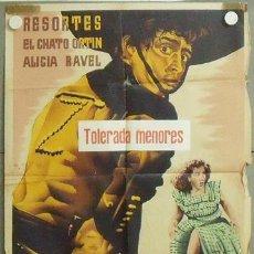 Cine: MM89 EL NIETO DEL ZORRO RESORTES POSTER ORIGINAL 70X100 ESTRENO. Lote 19791010