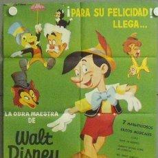 Cine: MN02 PINOCHO PINOCCHIO WALT DISNEY POSTER ORIGINAL 70X100 ESPAÑOL. Lote 19799405