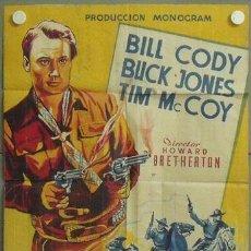 Cine: MN13 SANGRE Y POLVORA EN ARIZONA BILL CODY BUCK JONES LLOAN POSTER ORIG 70X100 ESTRENO LITOGRAFIA. Lote 19800920