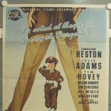 Cine: MN20 LA GUERRA PRIVADA DEL MAYOR BENSON CHARLTON HESTON MCP POSTER ORIG 70X100 ESTRENO LITOGRAFIA. Lote 19818763