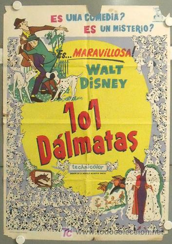 MN30 101 DALMATAS WALT DISNEY DIBUJOS POSTER ORIGINAL 70X100 ESTRENO (Cine - Posters y Carteles - Infantil)