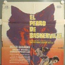Cine: OM06D EL PERRO DE BASKERVILLE HAMMER LEE CUSHING SHERLOCK HOLMES POSTER ORIGINAL 70X100 ESTRENO. Lote 19819920