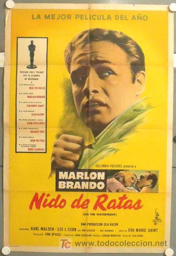 WZ05D LA LEY DEL SILENCIO MARLON BRANDO ELIA KAZAN POSTER ORIGINAL ARGENTINO 75X110 (Cine- Posters y Carteles - Drama)