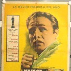 Cine: WZ05D LA LEY DEL SILENCIO MARLON BRANDO ELIA KAZAN POSTER ORIGINAL ARGENTINO 75X110. Lote 19823542