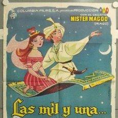Cine: XP42D LAS MIL Y UNA MISTER MAGOO ANIMACION POSTER ORIGINAL 70X100 ESTRENO. Lote 19820053
