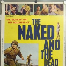 Cine: CCJ E385D THE NAKED AND THE DEAD RAOUL WALSH POSTER ORIGINAL AMERICANO 76X102. Lote 19861989