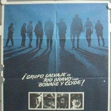 Cine: MN99 GRUPO SALVAJE THE WILD BUNCH SAM PECKINPAH WILLIAM HOLDEN POSTER ORIGINAL 70X100 ESTRENO. Lote 19863998