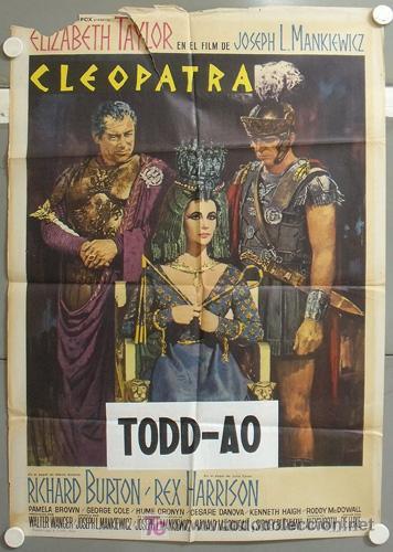 MO10 CLEOPATRA ELIZABETH TAYLOR TODD-AO POSTER ORIGINAL 70X100 ESTRENO A (Cine - Posters y Carteles - Aventura)