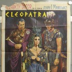 Cine: MO10 CLEOPATRA ELIZABETH TAYLOR TODD-AO POSTER ORIGINAL 70X100 ESTRENO A. Lote 19918984