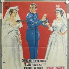 Cine: MO17 MI NOCHE DE BODAS TONY LEBLANC CONCHA VELASCO POSTER ORIGINAL 70X100 ESTRENO. Lote 19919579