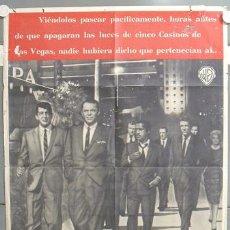 Cine: MO26 LA CUADRILLA DE LOS ONCE FRANK SINATRA RAT PACK POSTER ORIGINAL ESPAÑOL 70X100 ESTRENO A. Lote 19920136