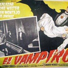 Cine: EL VAMPIRO - ABEL SALAZAR - ARIADNA WELTER - GERMAN ROBLES - TERROR - ORIGINAL LOBBY CARD MEXICANO. Lote 19925461