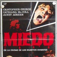 Cine: MO30 MIEDO EN LA CIUDAD DE LOS MUERTOS VIVIENTES LUCIO FULCI POSTER ORIGINAL ESTRENO 70X100. Lote 19925985