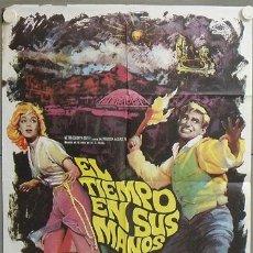 Cine: MO36 EL TIEMPO EN SUS MANOS ROD TAYLOR GEORGE PAL MAC POSTER ORIGINAL 70X100 ESTRENO. Lote 19926325