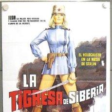 Cine: MO52 LA TIGRESA DE SIBERIA ILSA DYANNE THORNE POSTER ORIGINAL 70X100 ESTRENO. Lote 19936912