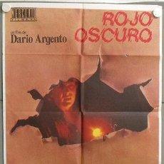 Cine: MO53 ROJO OSCURO DARIO ARGENTO POSTER ORIGINAL 70X100 DEL ESTRENO. Lote 19936958