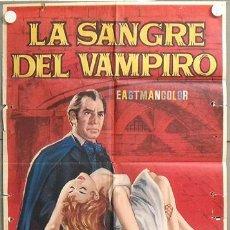 Cine: MO57 LA SANGRE DEL VAMPIRO DONALD WOLFIT BARBARA SHELLEY POSTER ORIGINAL ESTRENO 70X100. Lote 19937115