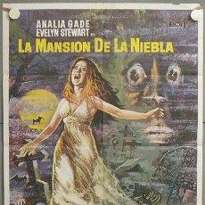 Cine: MO60 LA MANSION DE LA NIEBLA ANALIA GADE TERROR ESPAÑOL MAC POSTER ORIGINAL ESTRENO 70X100 . Lote 19937243