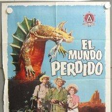 Cine: MO64 EL MUNDO PERDIDO IRWIN ALLEN ARTHUR CONAN DOYLE POSTER ORIGINAL 70X100 DEL ESTRENO. Lote 19937470