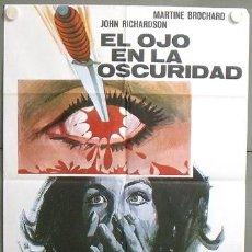 Cine: MO65 EL OJO EN LA OSCURIDAD UMBERTO LENZI GIALLO POSTER ORIGINAL 70X100 ESTRENO. Lote 19937877