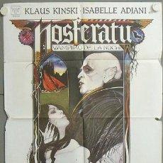 Cine: MO93 NOSFERATU VAMPIRO DE LA NOCHE KLAUS KINSKI ISABELLE ADJANI POSTER ORIGINAL ESTRENO 70X100. Lote 19942558