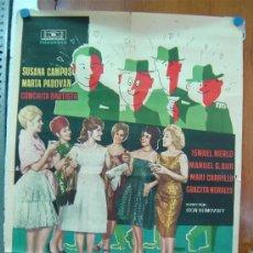 Cine: ESCUELA DE SEDUCTORAS, 1962, SUSANA CAMPOS, MARTA PADOVAN, CONCHA VELASCO,ISMAEL MERLO,MARI CARRILLO. Lote 27096054