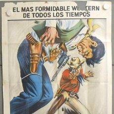 Cine: MP49 POR UN PUÑADO DE DOLARES CLINT EASTWOOD SERGIO LEONE POSTER ORIG ARGENTINO 75X110 LITOGRAFIA. Lote 19964131