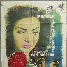 Cine: MQ09 LA ROSA ROJA MIKAELA LUIS PEÑA RAFAEL BARDEM POSTER ORIGINAL 70X100 ESTRENO. Lote 19978756