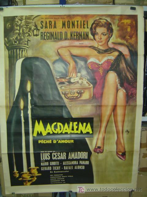 MAGDALENA PÉCHÉ D'AMOUR, SARA MONTIEL - AÑO 1961 (CARTEL FRANCES DEL ESTRENO) (Cine - Posters y Carteles - Clasico Español)