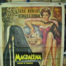 Cine: MAGDALENA PÉCHÉ D'AMOUR, SARA MONTIEL - AÑO 1961 (CARTEL FRANCES DEL ESTRENO). Lote 26606308