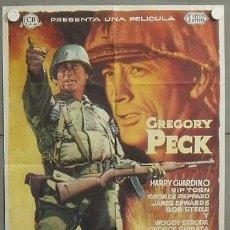 Cine: VF53D LA CIMA DE LOS HEROES GREGORY PECK MCP POSTER ORIGINAL ESTRENO 70X100. Lote 19958379