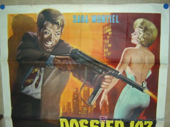 Cine: DOSSIER 107, MITRA E DIAMANTI, SARA MONTIEL - AÑO 1965 (CARTEL ITALIANO DEL ESTRENO) - Foto 2 - 26606307