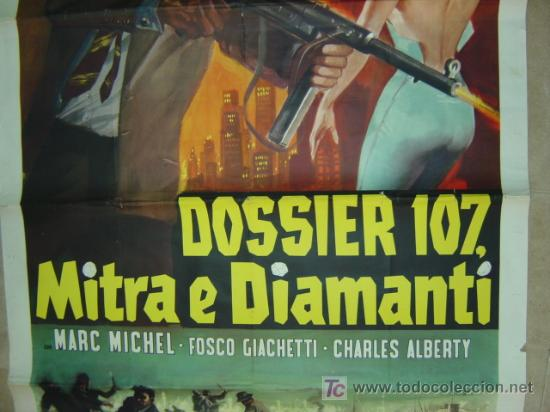 Cine: DOSSIER 107, MITRA E DIAMANTI, SARA MONTIEL - AÑO 1965 (CARTEL ITALIANO DEL ESTRENO) - Foto 3 - 26606307