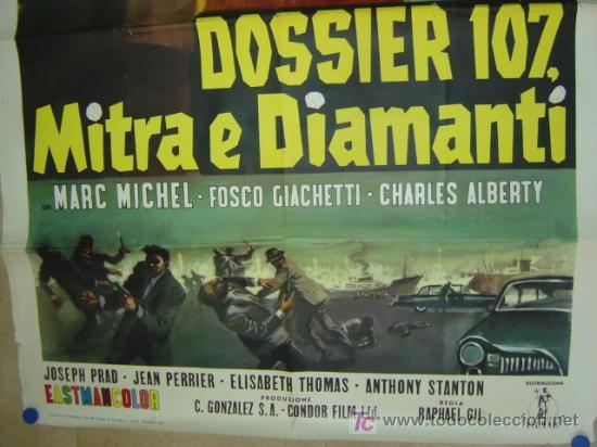 Cine: DOSSIER 107, MITRA E DIAMANTI, SARA MONTIEL - AÑO 1965 (CARTEL ITALIANO DEL ESTRENO) - Foto 4 - 26606307