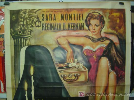 Cine: MAGDALENA PÉCHÉ D'AMOUR, SARA MONTIEL - AÑO 1961 (CARTEL FRANCES DEL ESTRENO) - Foto 2 - 26606308