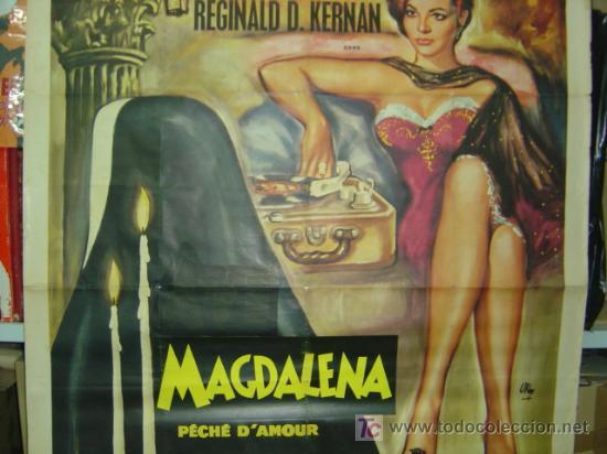 Cine: MAGDALENA PÉCHÉ D'AMOUR, SARA MONTIEL - AÑO 1961 (CARTEL FRANCES DEL ESTRENO) - Foto 3 - 26606308
