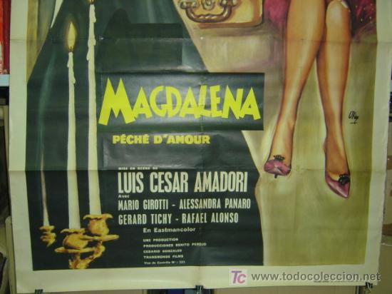 Cine: MAGDALENA PÉCHÉ D'AMOUR, SARA MONTIEL - AÑO 1961 (CARTEL FRANCES DEL ESTRENO) - Foto 4 - 26606308