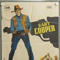 Cine: MP89 HOMBRE DEL OESTE GARY COOPER ANTHONY MANN POSTER ORIGINAL 70X100 ESTRENO. Lote 19975467