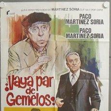 Cine: MQ20 VAYA PAR DE GEMELOS PACO MARTINEZ SORIA POSTER ORIGINAL 70X100 ESTRENO. Lote 19982589