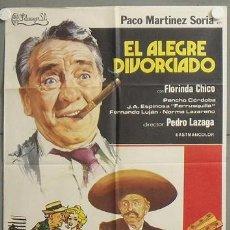 Cine: MQ27 EL ALEGRE DIVORCIADO PACO MARTINEZ SORIA POSTER ORIGINAL 70X100 ESTRENO. Lote 19993811